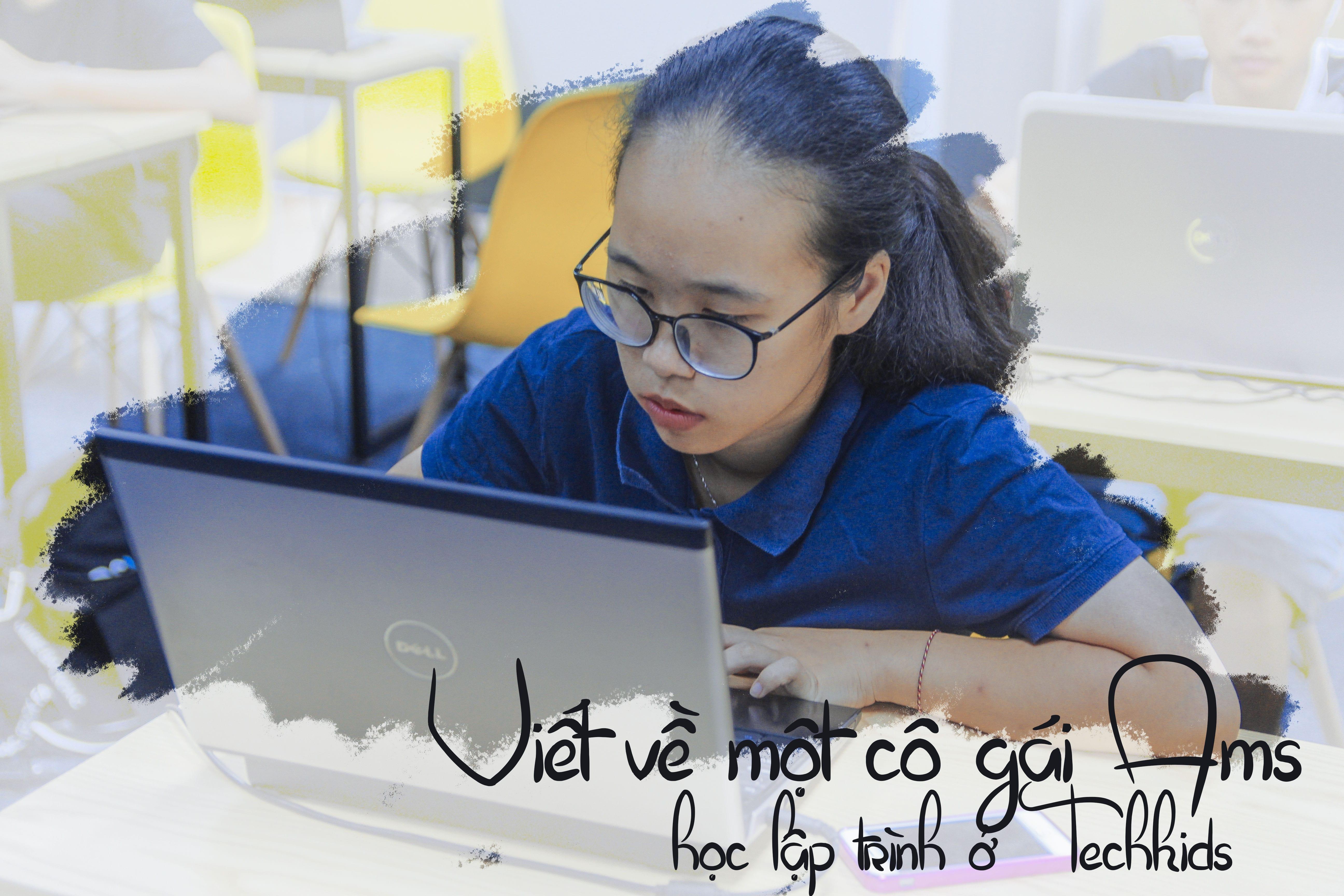 Cô bé chuyên toán Ams đi học lập trình